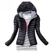 Осень зима Женская Базовая куртка пальто женское приталенное с капюшоном Брендовое хлопковое Пальто повседневные Черные куртки