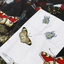 Mesh butterfly embroidery lace fabric insect beetle skirt tulle wedding dress fabrics