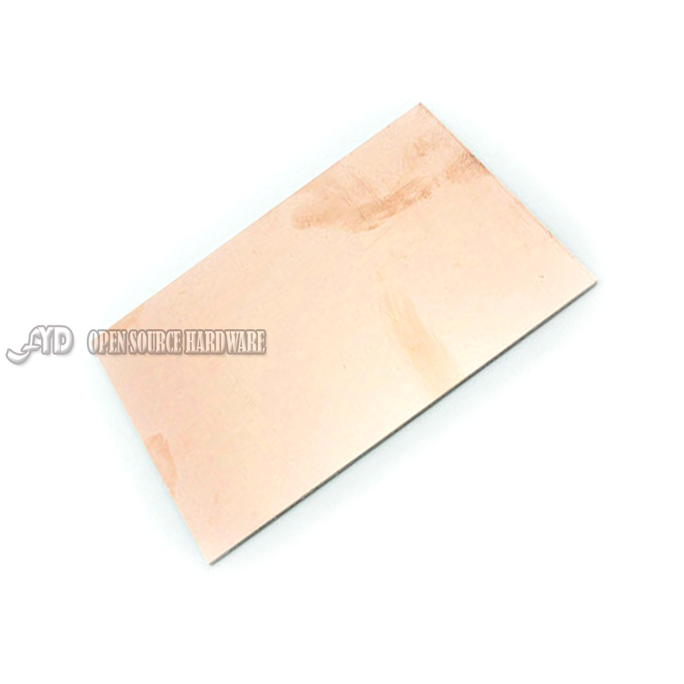 2PCS/LOT Sided CCL 10 X15 CM Experimental Glass Fiber Material Thickness 1.6MM PCB