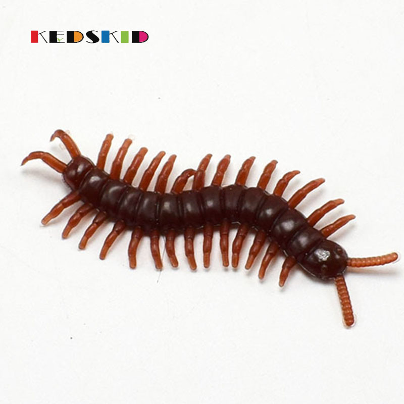 10Pcs/pack Halloween Jokes Gags Pranks Maker Trick Fun Novelty <font><b>Funny</b></font> <font><b>Gadgets</b></font> Blague Tricky Toy Simulation False centipede Toys image