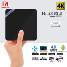 Mesuvida Мини M8S II Smart Box TV Set-top Box Amlogic S905X Quad Core Android 6.0 2.4 ГГц Wi-Fi BT4.0 1 ГБ/2 ГБ RAM 8 ГБ Сми плеер