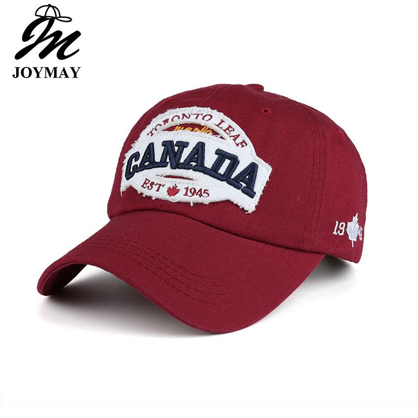 2016 Neue Ankunft Hohe Qualität Hysterese Kappe Baumwolle Baseball Cap Kanada Ahorn Stickerei Hut Für Männer Frauen Unisex Kappe B350 Ungleiche Leistung