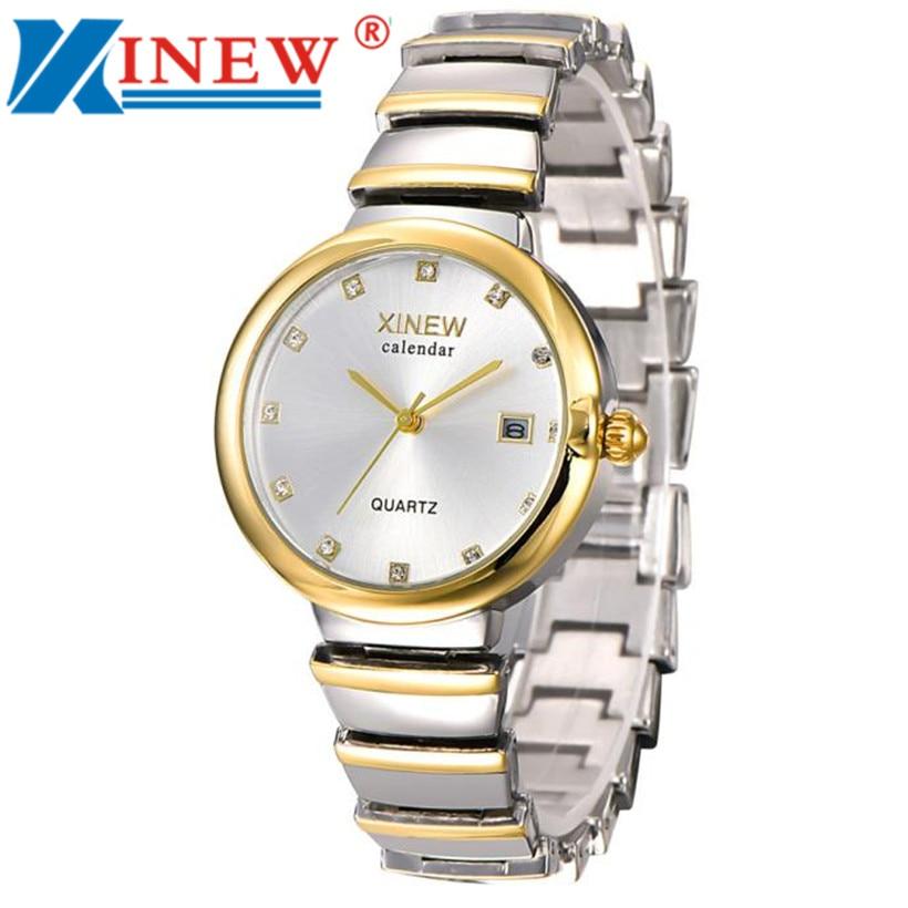 2ebcf16f5e9 XINEW Relógio Da Menina Das Mulheres Unisex Moda Relógios De Luxo Banda de  Aço Inoxidável Relógio de Quartzo relogio feminino bayan kol saati