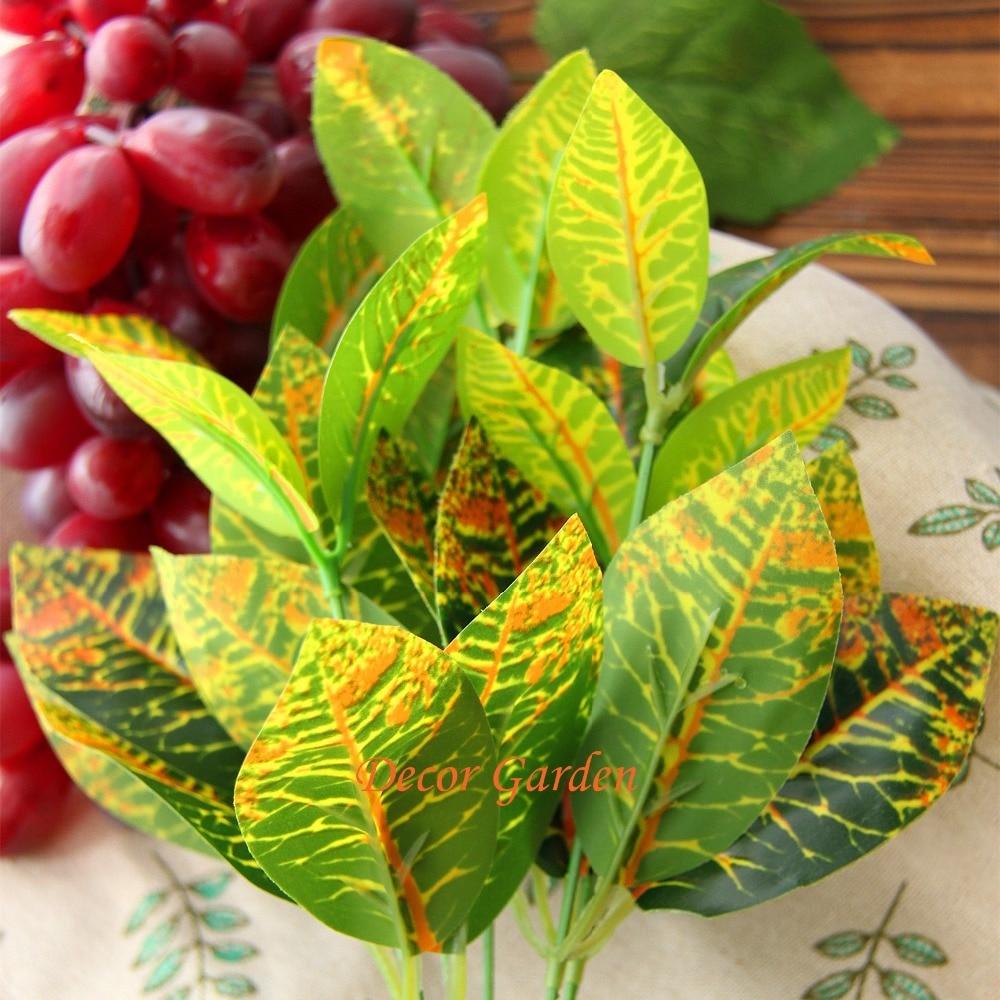 Artificial Green Radish Leaves Plant Imitation Fern Plastic for DIY ...