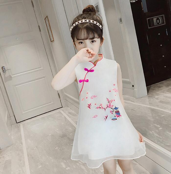 где купить 2018 winter children cheongsam red lace flower girl evening dress qipao long sleeve chinese traditional qi pao baby kids year дешево