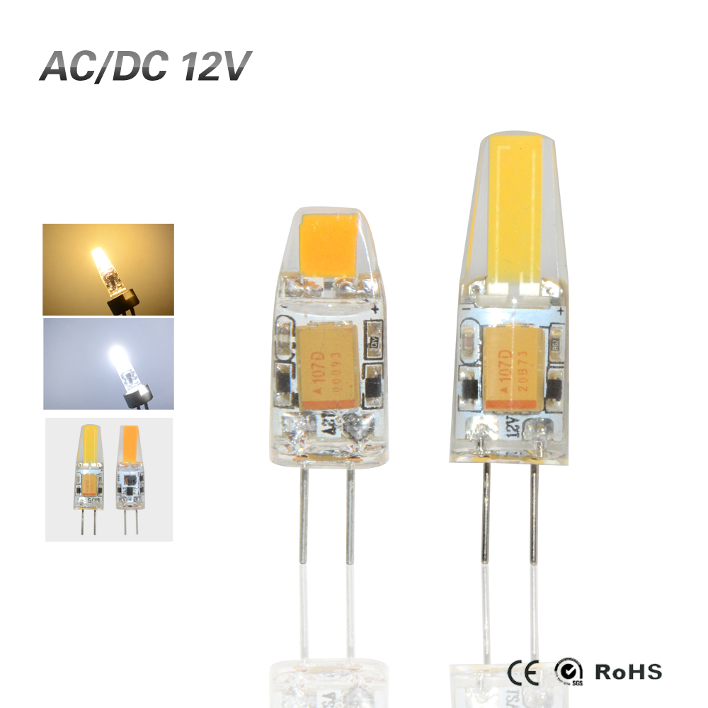 Led 12v Dimmbar 2016 G4 Cob Led Lamp 3w 6w Dc Ac 12v Led Cob Light Bulb Dimmable Super Bright Replace Halogen G4 Lamp For Chandelier Lighting In Led Bulbs Tubes