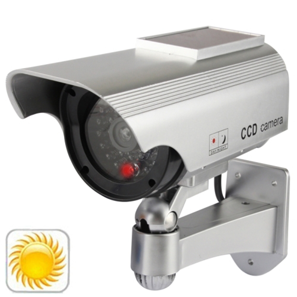 Wholesale Fake Camera Solar Powered Indoor Outoodr Dummy Security Bullet Cctv Safe Surveillance Cam Blinking IR LED 4 pcs lot motion detection bullet camera security dummy solar powered w flashing led