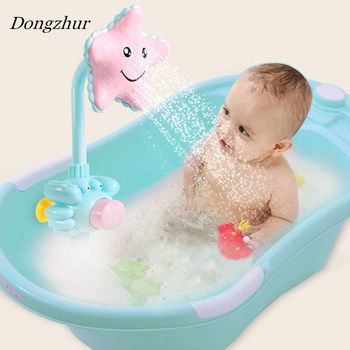 Dongzhur Baby Bath Toys Electric Sunflower Shower Faucet Baby Bath Spout Bathroom Toys Water Game Shower Spray Water Kids Toys baby toys