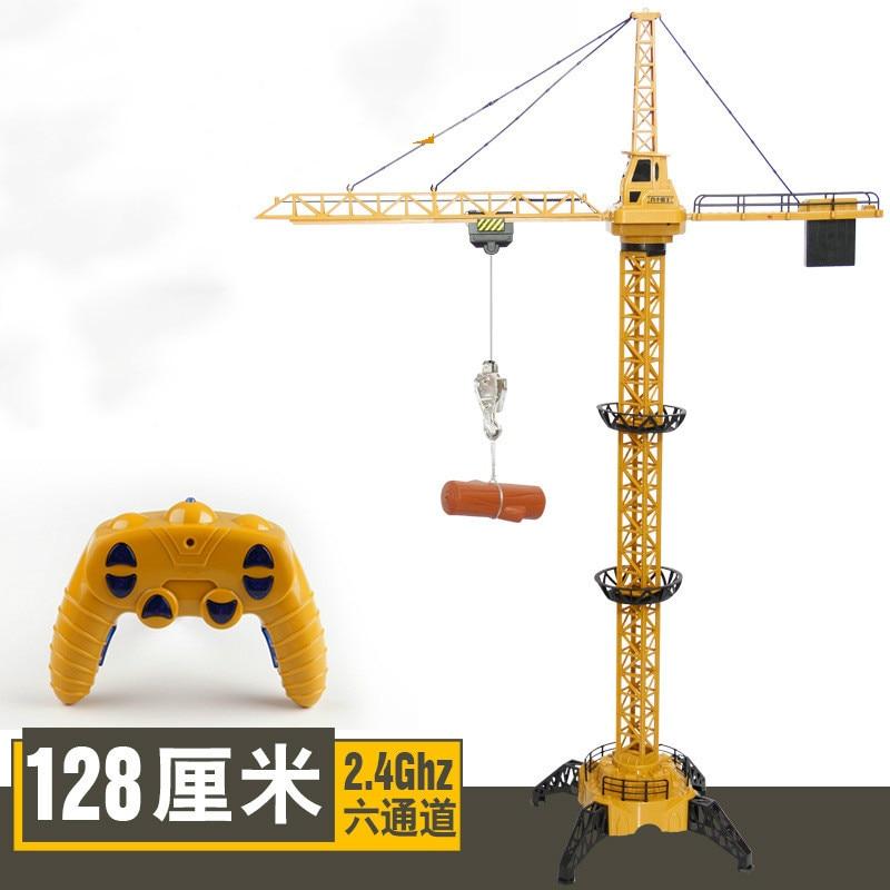 Rc grue 2.4G télécommande simulation effet sonore 6 canaux jouet tour grue ingénierie véhicule