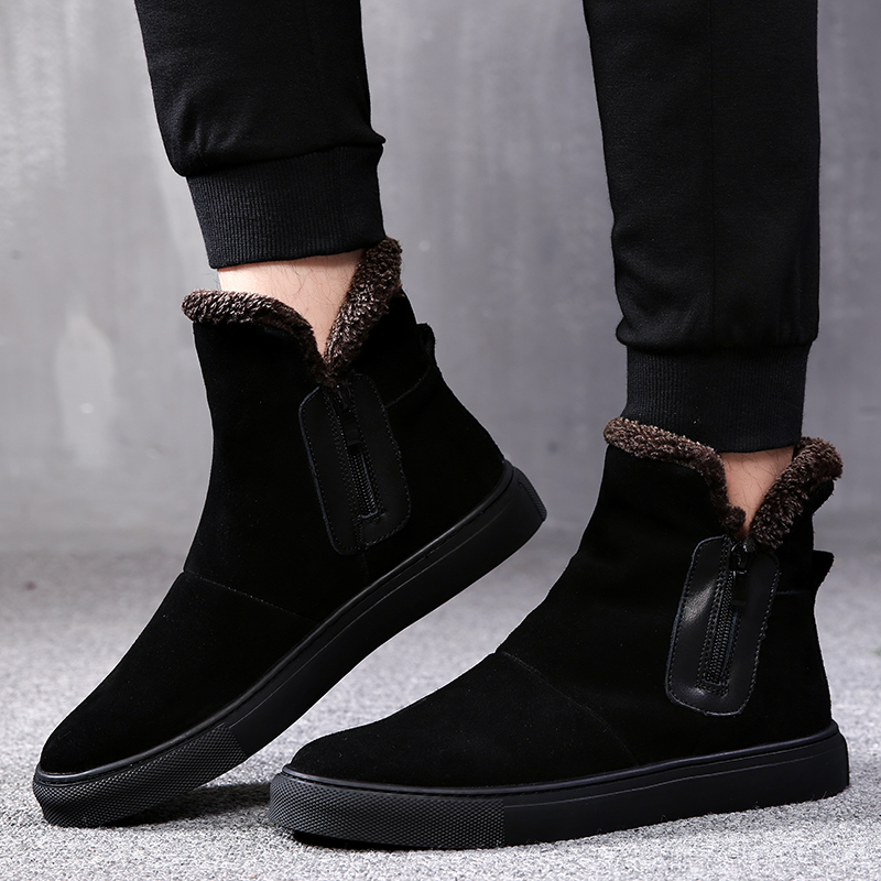 2018 Qualidade Sapatos Botas Hop Lace Homens Marca Heinrich Clássicas De Maré Moda Da Black Novos up Inverno Alta Regenlaarzen dwz4qOz