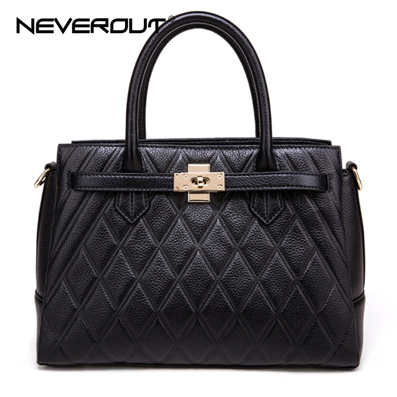 NeverOut Luxury Real Leather Bags Women Handbags Zipper Female Casual Totes Original Design Shoulder Lady Bags Sac Evening Bag spring new elegant leather women handbag smooth skin lady shoulder bags female small casual totes cover zipper crossbody packs
