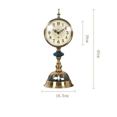 Décoratif rétro Table bureau Quartz horloges salon chambre Vintage réveil nostalgique ornements Table bureau montres