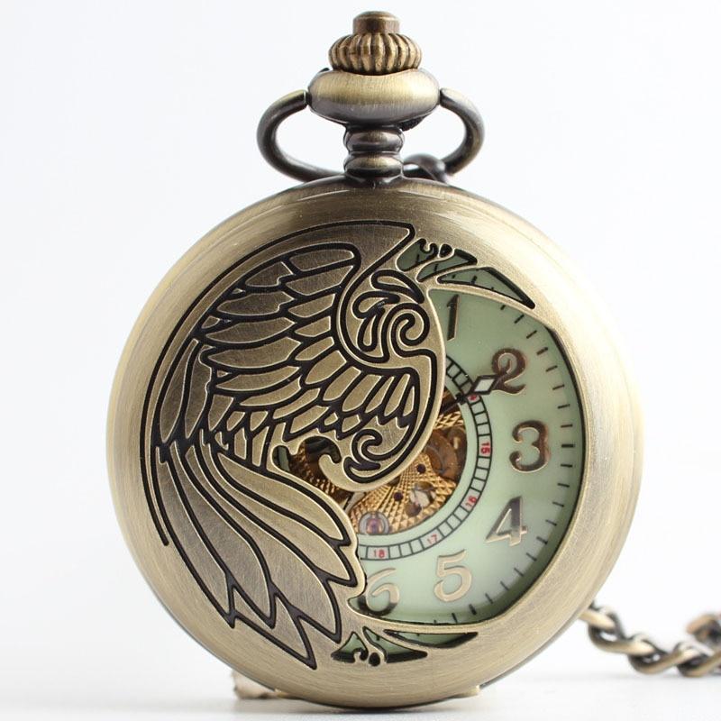 New retro retro peacock pocket watch automatic mechanical watches Men Women flip pocket watch