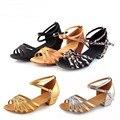 3.5CM height girl small high-heeled dance shoes 2017 new girls Latin dance sandals, size 24-40 girls dance sandals kids shoes