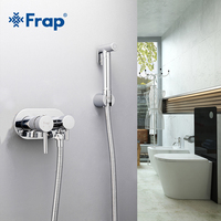 Frap Bidets Hygienic Shower Wall Mounted Bathroom Bidet Mixer Hot and Cold Shower Toilet Spray Kit Bathroom Bidet Spray F7508