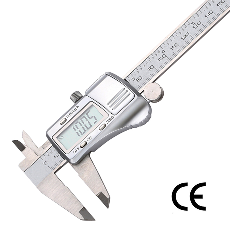 How To Use Vernier Caliper >> Digital Caliper 0 150mm/0.01 Stainless Steel Electronic ...
