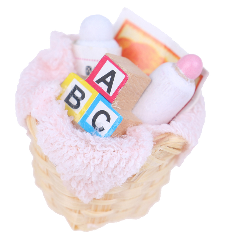 Baskets <font><b>Doll</b></font> <font><b>House</b></font> Miniature <font><b>Accessories</b></font> Dollhouse Miniatures <font><b>1</b></font>:<font><b>12</b></font> Necessary Toiletries For <font><b>Doll's</b></font> Bath Supplies image