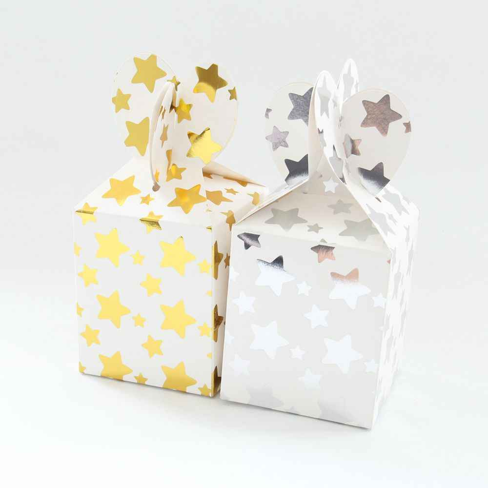 6pcs Gold Foil Star Paper Gift Bags