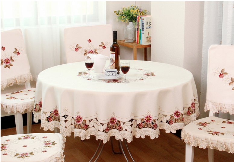 Compra tela de mesa y silla online al por mayor de china for Manteles para mesas redondas