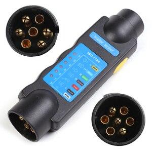 Image 2 - Accesorios para coche Conectores de remolque de plástico de 12 V adaptadores de 7 pines a 13 pines adaptadores y probadores de remolque