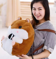Gift for baby 1pc 50cm funny chestnut hamster plush backpacks cute students shoulder bag Satchel girl lady toy
