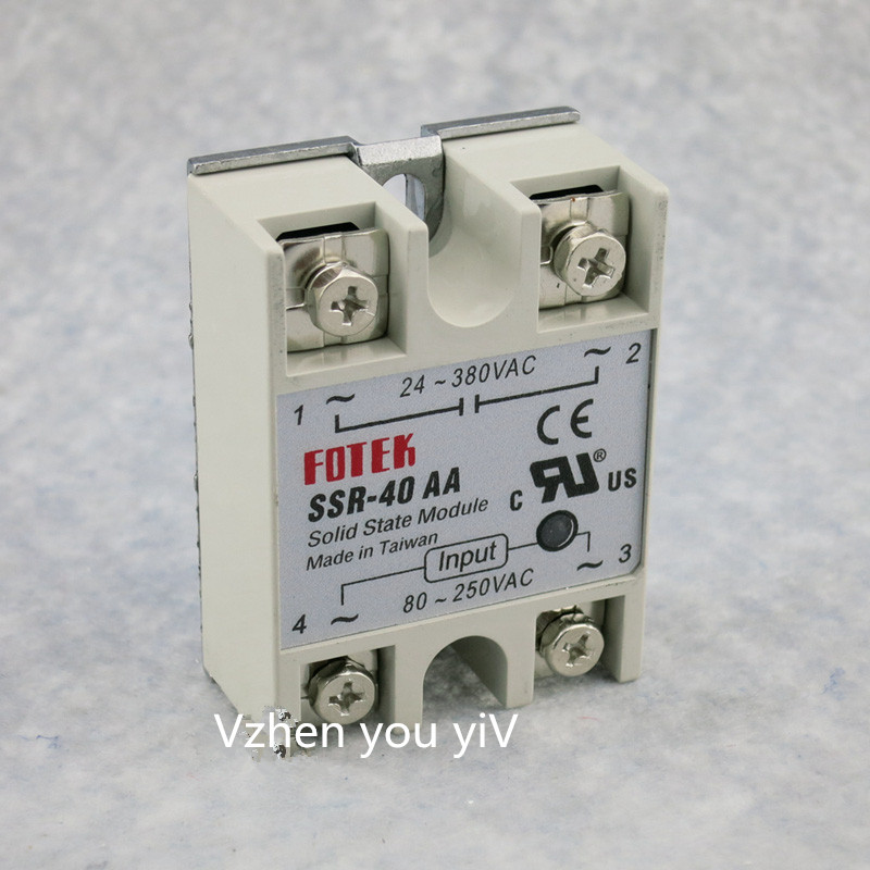 2pcs Free shipping solid state relay SSR-40AA 40A actually 80-250V AC TO 24-380V AC SSR 40AA relay solid state normally open single phase solid state relay ssr mgr 1 d48120 120a control dc ac 24 480v
