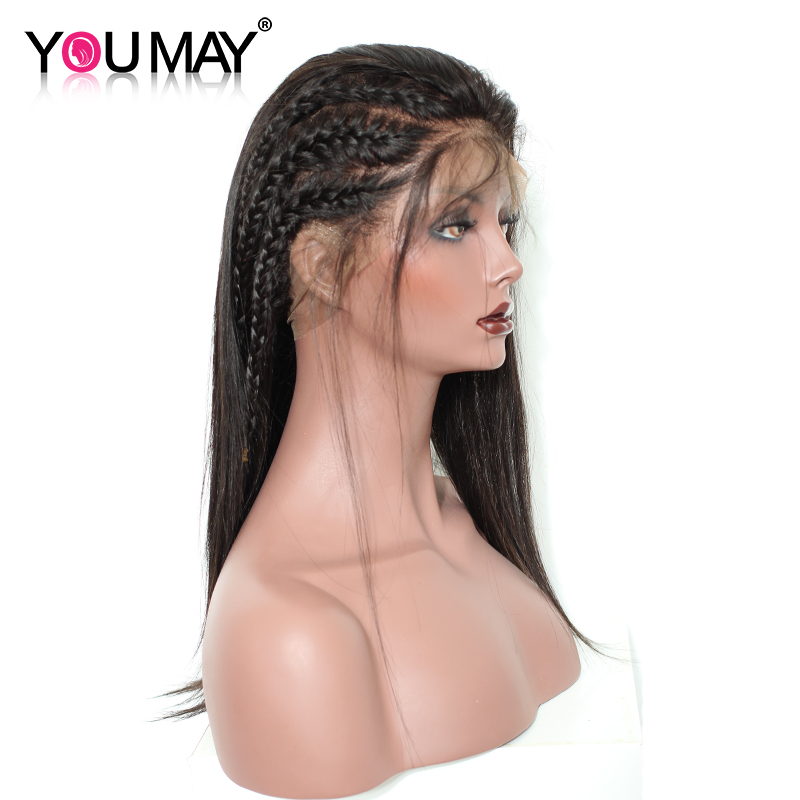 Silky Straight Human Hair Wig 150% Density 360 Lace Frontal Wig Pre Plucked With Baby Hair For Women Brazilian Lace Front YouMay