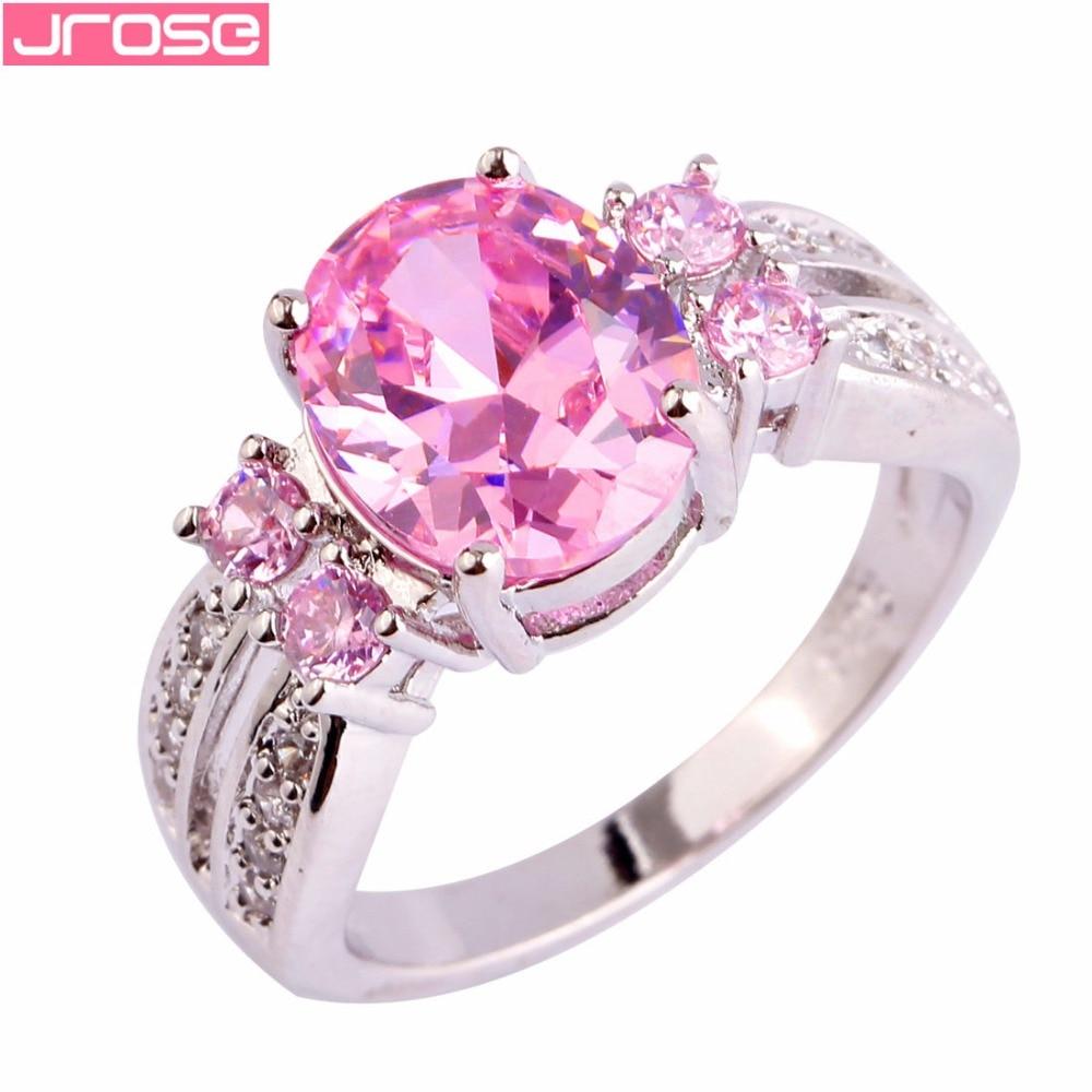 JROSE Bride Fashion Oval Cut ვარდისფერი და - მოდის სამკაულები - ფოტო 1