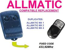 ALLMATIC MX1, ALLMATIC MX2, ALLMATIC MX4, Universal remote control replacement  clone duplicator Fixed code 433.92MHz велосипедные тормоза no mx2 mx3 mx4 mx5 sh828 tuv aov