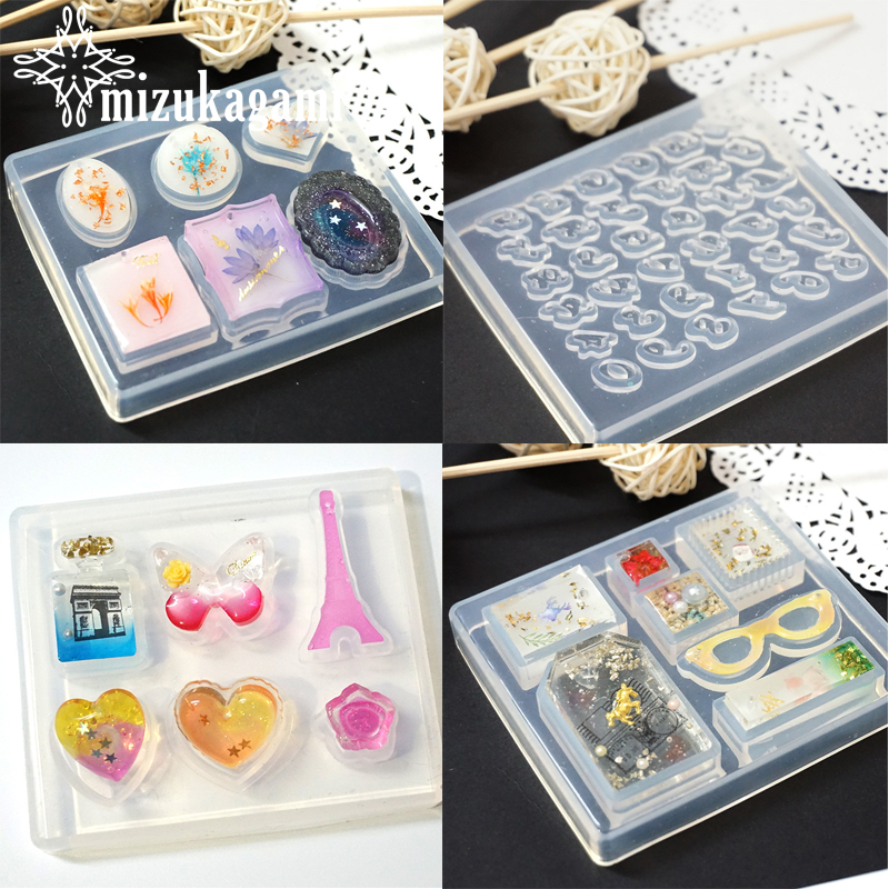 1pcs UV Resin Jewelry Liquid Silicone Mold English Letter Love Heart Resin Charms Molds For DIY Decorate Making Jewelry