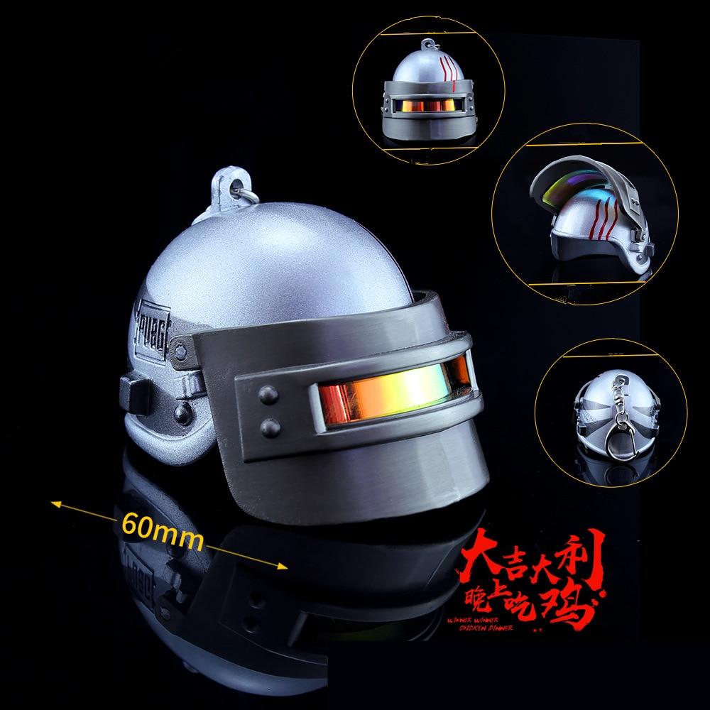 PUBG Game Playerunknown's Battlegrounds Cosplay Props Battle Snow Monster Helmet  Level 3 Armor Helmet Key Chain Keychain New