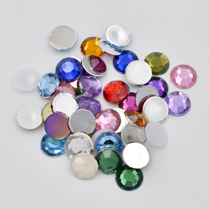 500pcs Flatback Acrylic Rhinestone Cabochons Decoration Jewelry Making 8~13mm