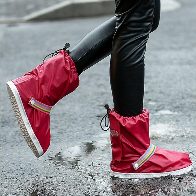 Fashion 4 Colors Rain Shoes Covers Waterproof Shoe Protectors Shoe Covers For Rain Reusable Overshoes For Women And Men