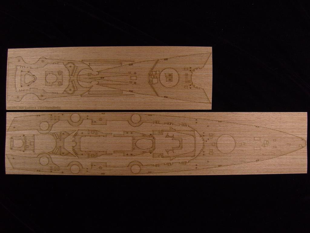 Avec ARTWOX 78013 cuirassé Allemand Bismarck Tamiya pont en bois AW10056