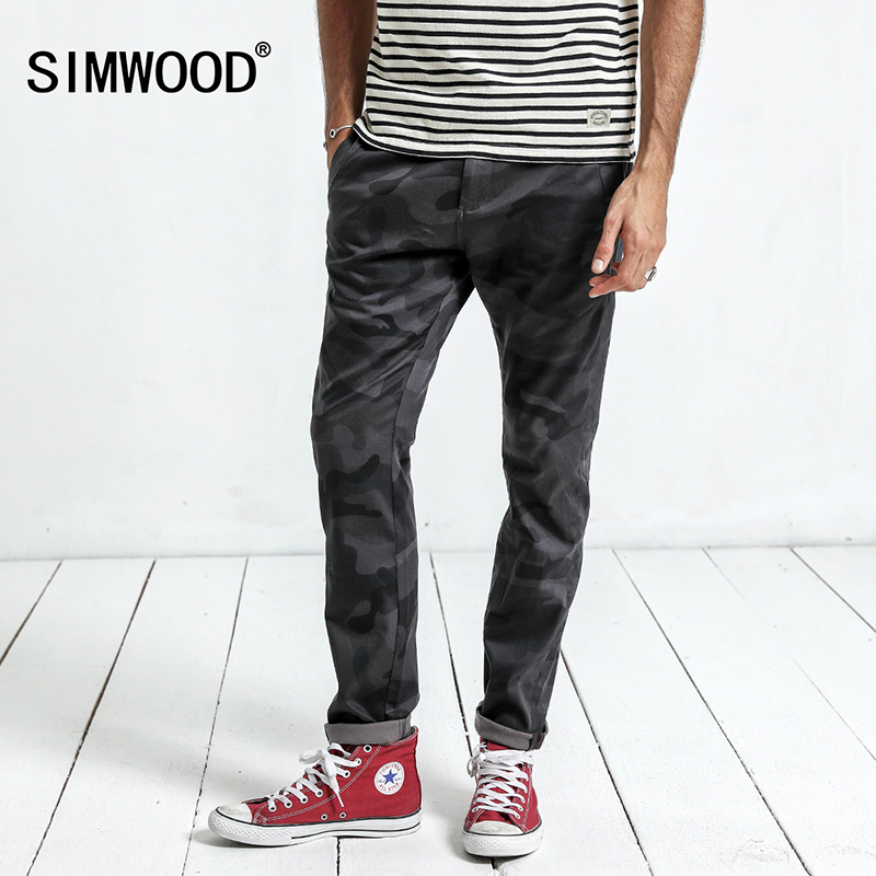 Skinny Pants Simwood 2019 New Pants Camouflage High Quality Spring Mens Fashion Casual Pants Formal Slim Pocket Brand Trousers Xc017032 An Enriches And Nutrient For The Liver And Kidney Men's Clothing