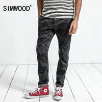 SIMWOOD 2019 New Pants Camouflage High Quality autumn Men's Fashion Casual Pants Formal Slim Pocket Brand Trousers XC017032