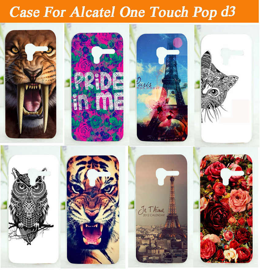 Painted case DIY mobile phone case hard Back cover Skin Shell For Alcatel One Touch Pop D3 4035A 4035D 4035X 4035Y