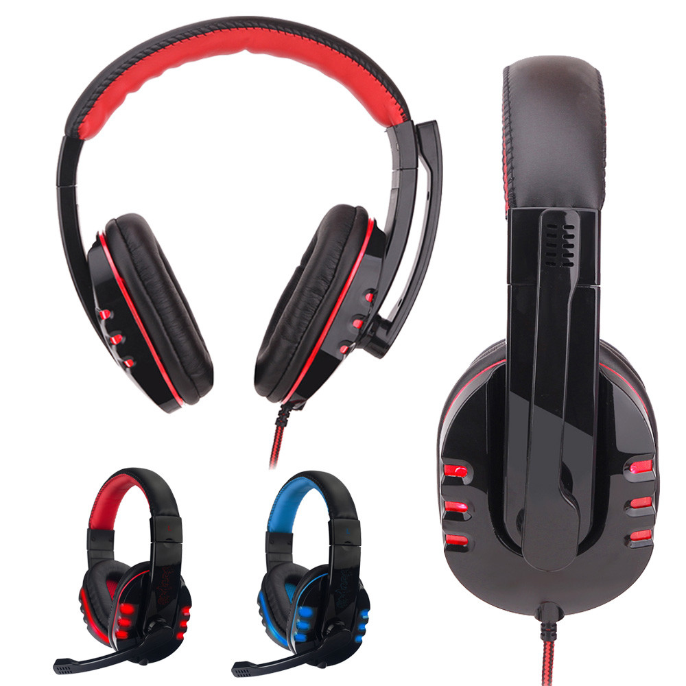 2018 Hot sale Surround Stereo Gaming Headset Headband Headphone USB 3.5mm LED with Mic for PC 2m listening music Mic цена
