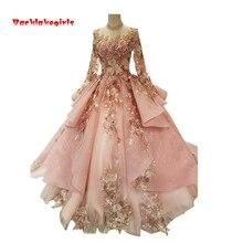 Backlakegirls Vintage Ball Gowns Wedding Dress Long Sleeve