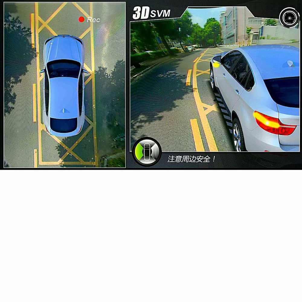 Новейший 3D HD панорамный обзор системы мониторинга 360 градусов Вождение птица вид панорама камеры автомобиля 4-CH DVR рекордер с G сенсор