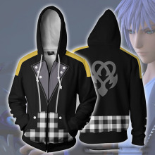 Game Riku Keyblade Cosplay Costumes 3D Print Daily Hoody Sweatshirts Hooded Casual