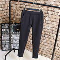 Warm Autumn/Winter Women Pants Plus Size 3XL 4XL Casual Elastic Trousers Slim Pencil Pants Black KK2170