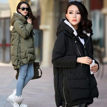 Maternity winter coat Military Long Loose Hooded Solid Thick Down Coat Pregnant Women Pregnancy Coats Outerwear Jackets feminina
