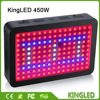 KingLED Black 450W LED Grow Light Full Spectrum LED Grow light Panel For Medical Flower Plants Vegetative Flowering LED Light