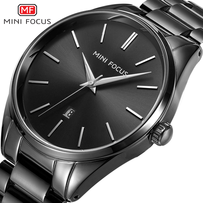 MINIFOCUS Luxury Brand Men Watches Stainless Steel Waterproof Fashion Men's Wristwatch Quartz Watch Montre Homme Male Clock 2018 times newspaper reading course of intermediate chinese 1 комплект из 2 книг