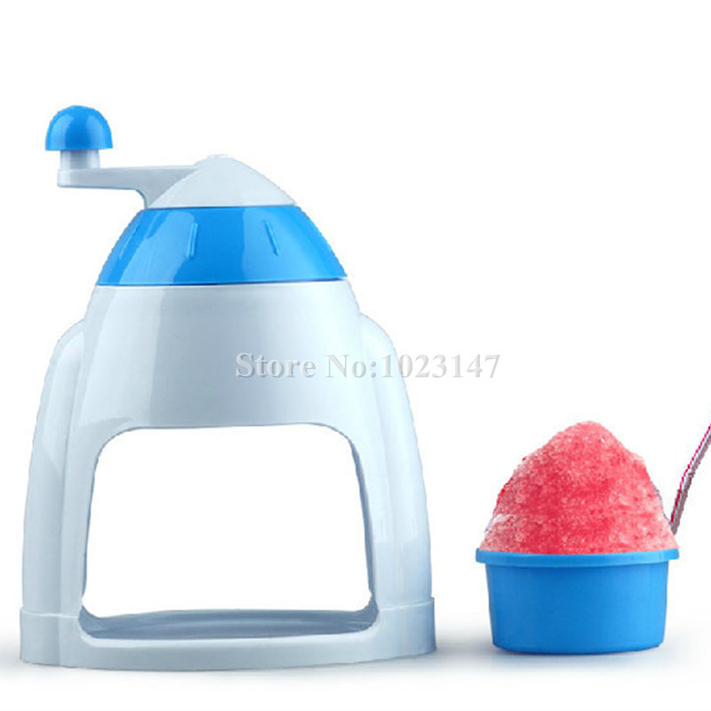 1 piece Home Easy Portable Ice Maker Crusher Manual Machine Snow Cone Machine Ice Block Making Machines jiqi electric ice crusher shaver snow cone ice block making machine household commercial ice slush sand maker ice tea shop eu us