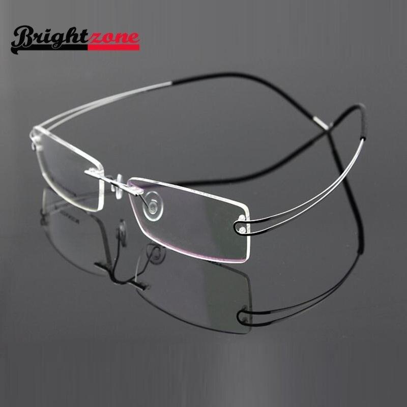 Randlose Titan Brillen Rahmen Männer Flexible Optische Rahmen Rezept Schauspiel Rahmenlose Gläser Frauen Brillen Im Sommer KüHl Und Im Winter Warm Bekleidung Zubehör