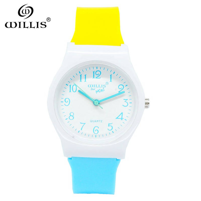 WILLIS Brand Sports Children Watches Kids Silicone Quartz Cute Watch For Boy Girl Waterproof Swimming Wristwatch 2017 Hot Sell