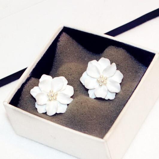 Classics Big White Flower kõrvarõngad naistele Fashion Jewelry - Mood ehteid - Foto 5
