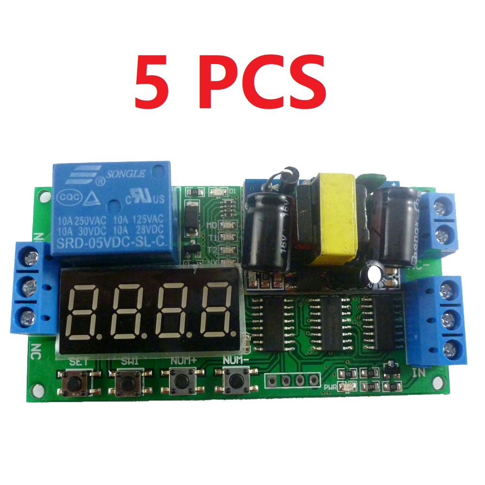 Dd2424sa 12v10 10pcs 12w 37v 5v 6v 9v To 12v Dc Converter Boost Pwm Motor Solar Charge Controller With Usbdc 5a Cmtp01du05a 5pcs Ac 110v 220v Multifunction Delay Relay Timer Switch Digital Tube Led